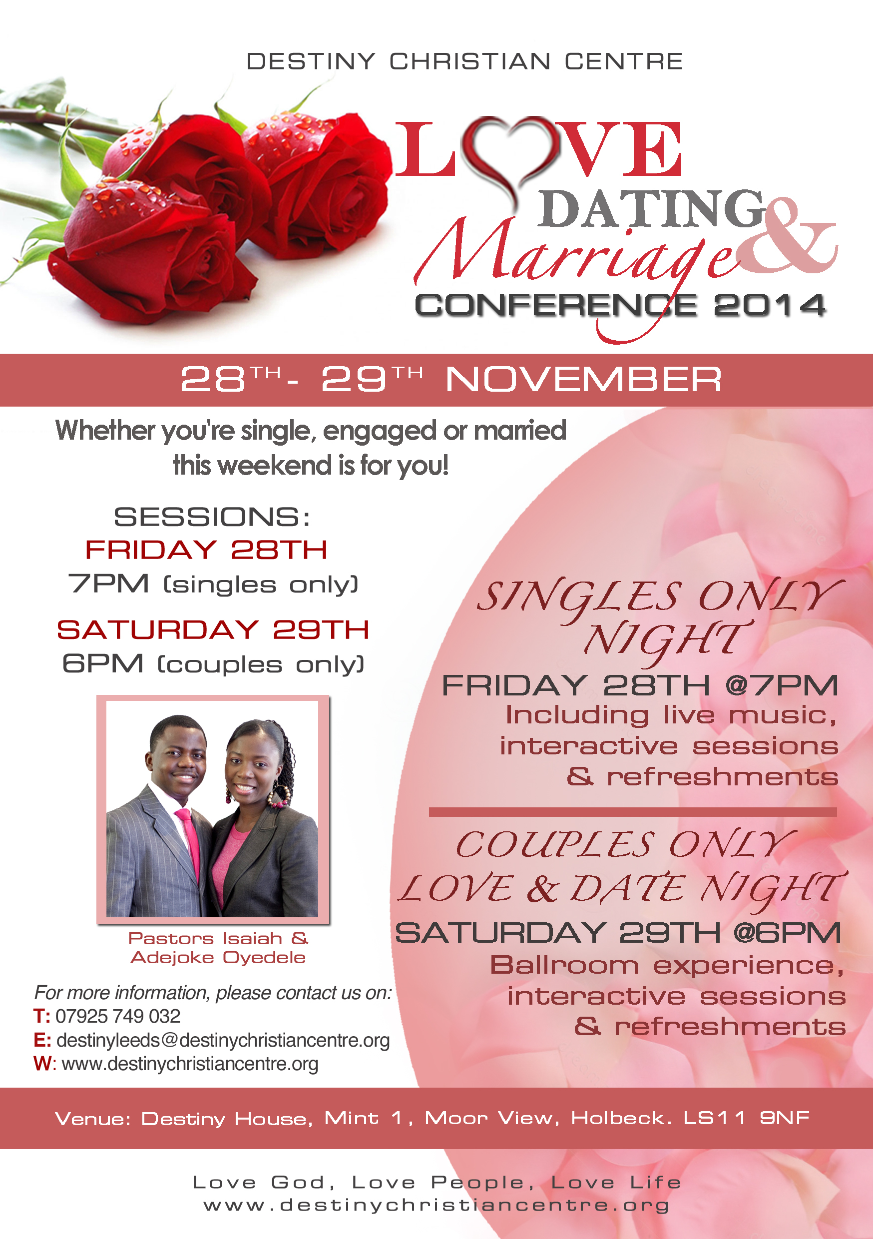 Christian dating seminars flyers